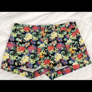J Crew Floral Shorts size 4